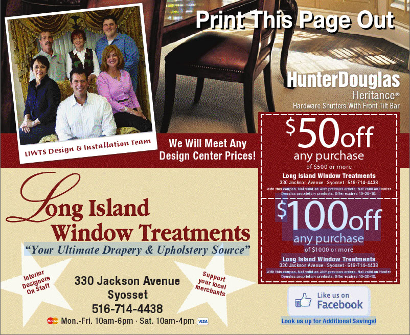 Long Island Window Treatments - Coupon