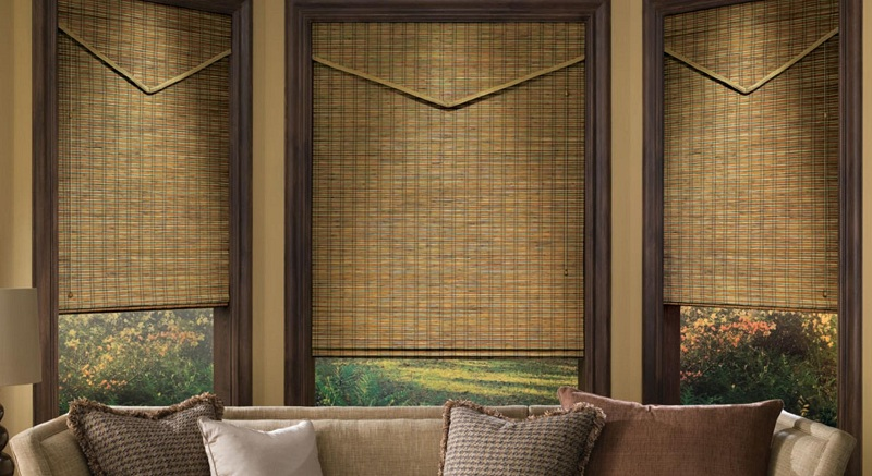 Wood Shades Long Island Natural Woven Shades